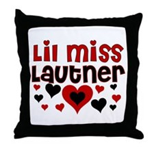 Lil Miss Taylor Lautner Throw Pillow