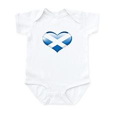 Heart Flag of Scotland Infant Bodysuit