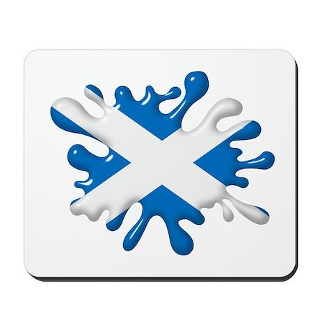 Splash Flag of Scotland Mousepad