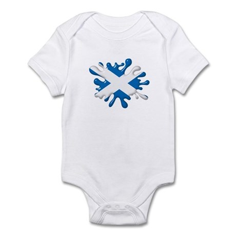 Splash Flag of Scotland Infant Bodysuit