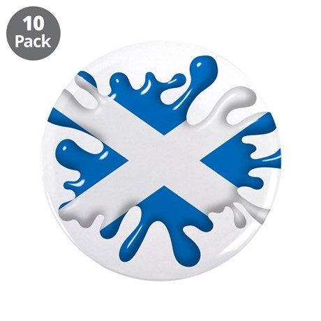 "Splash Flag of Scotland 3.5"" Button (10 pack)"