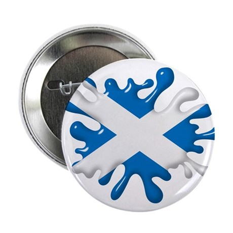 "Splash Flag of Scotland 2.25"" Button"