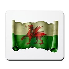 Antique Flag of Wales Mousepad