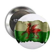 """Antique Flag of Wales 2.25"""" Button"""