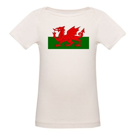 Flag of Wales (Welsh Flag) Organic Baby T-Shirt