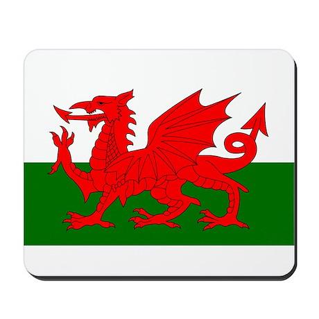 Flag of Wales (Welsh Flag) Mousepad