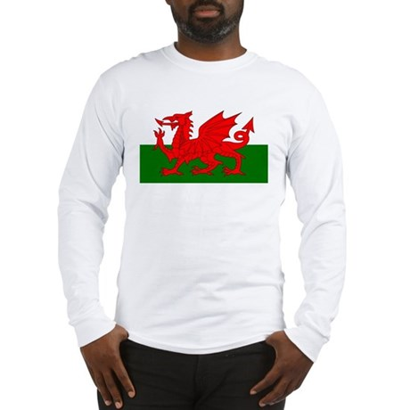 Flag of Wales (Welsh Flag) Long Sleeve T-Shirt