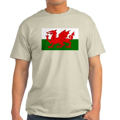 Flag of Wales (Welsh Flag) Light T-Shirt