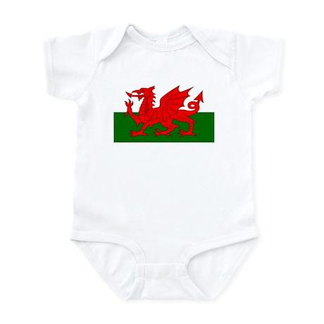 Flag of Wales (Welsh Flag) Infant Bodysuit