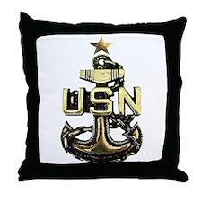 Senior Chief Anchor Throw Pillow