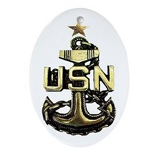 Senior Chief Anchor Oval Ornament