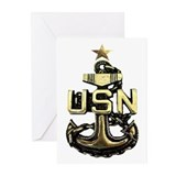 Navy chief Greeting Cards (10 Pack)