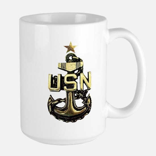 Senior Chief Anchor Large Mug