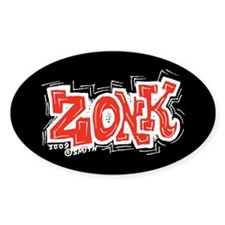 Zonk Oval Decal