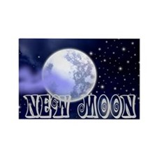 New Moon Night Sky Rectangle Magnet