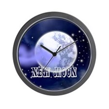 New Moon Night Sky Wall Clock