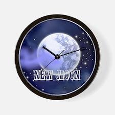 New Moon Night Sky Wall Clock