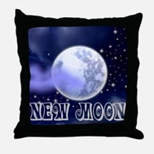 New Moon Night Sky Throw Pillow