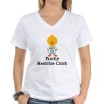 Family Medicine Chick Women's V-Neck T-Shirt