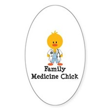 Family Medicine Chick Oval Decal