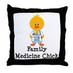Family Medicine Chick Throw Pillow