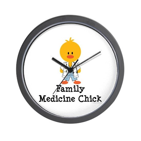 Family Medicine Chick Wall Clock