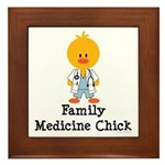 Family Medicine Chick Framed Tile