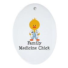 Family Medicine Chick Oval Ornament