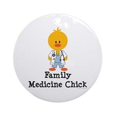 Family Medicine Chick Ornament (Round)