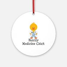 Family Medicine Chick Ornament (Round)
