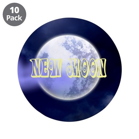 "New Moon 3.5"" Button (10 pack)"