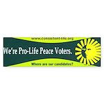 Pro-Life Peace Voters Bumper Sticker
