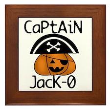 Halloween Pirate Framed Tile
