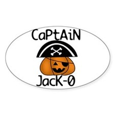 Halloween Pirate Oval Decal