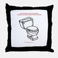 Body Disposal Throw Pillow