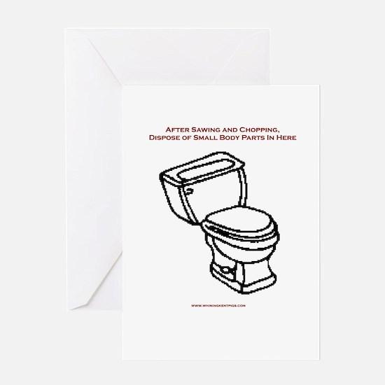 Body Disposal Greeting Card