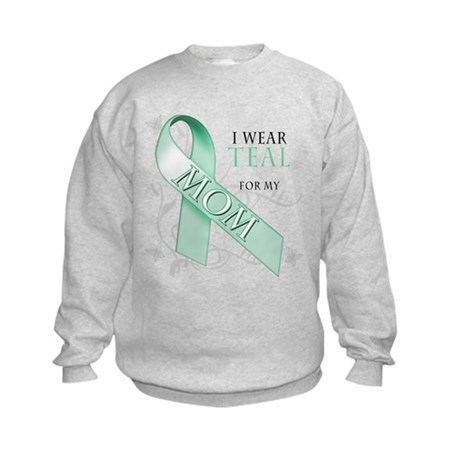 I Wear Teal for my Mom Kids Sweatshirt