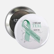 """I Wear Teal for my Great Grandma 2.25"""" Button"""