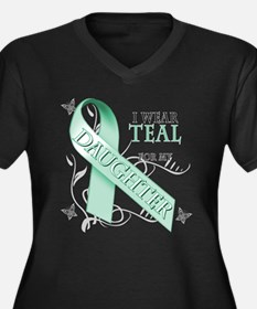 I Wear Teal for my Daughter Women's Plus Size V-Ne