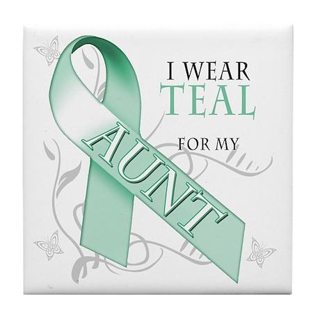 I Wear Teal for my Aunt Tile Coaster