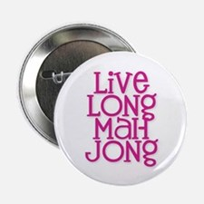 "Live Long Mah Jong 2.25"" Button"