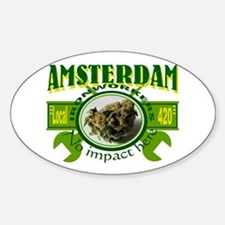 AMSTERDAM IRONWORKERS Oval Decal