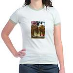 Gypsy & Wanda - Asian Elephants Jr. Ringer T-Shirt