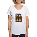 Gypsy & Wanda - Asian Elephants Women's V-Neck T-S