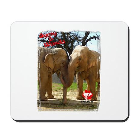 Gypsy & Wanda - Asian Elephants Mousepad