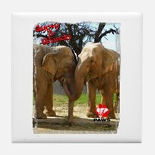 Gypsy & Wanda - Asian Elephants Tile Coaster