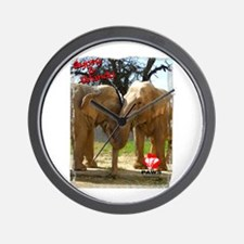Gypsy & Wanda - Asian Elephants Wall Clock