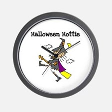 Halloween Hottie Wall Clock