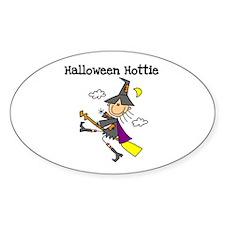 Halloween Hottie Oval Decal
