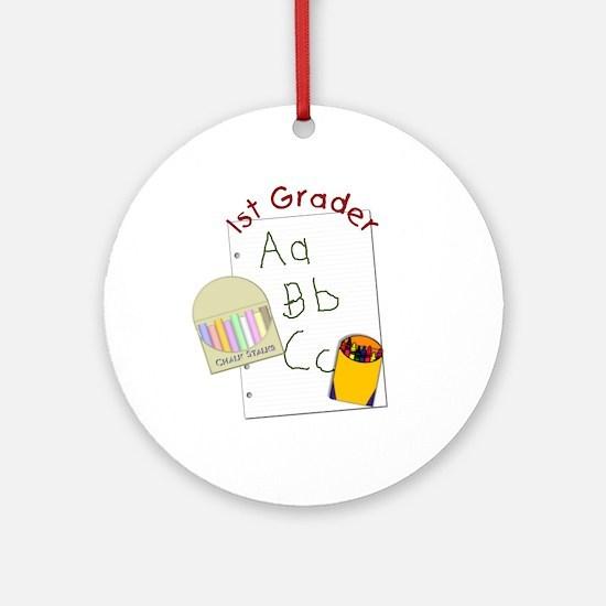 1st Grader Ornament (Round)